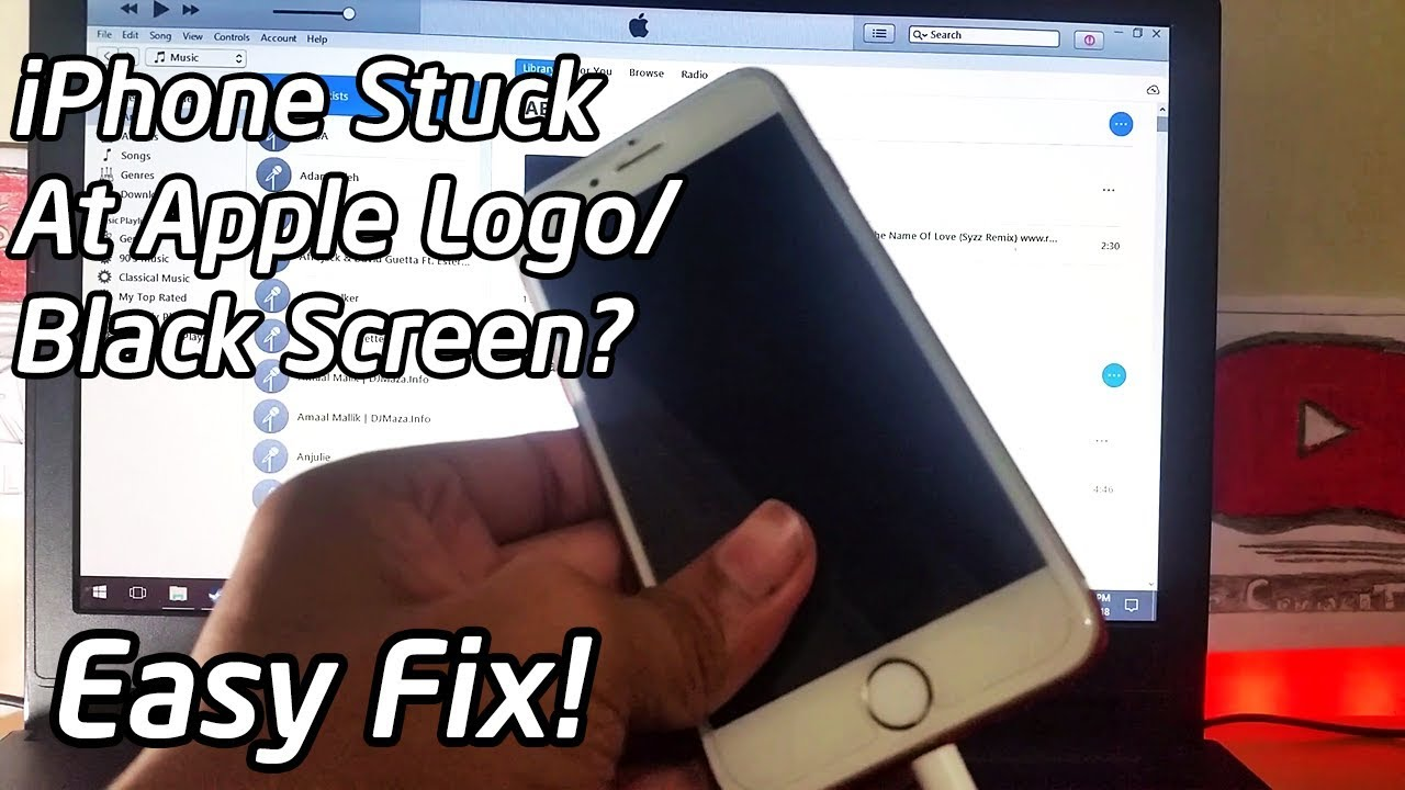 How To Fix iPhone Stuck At Apple Logo/Black Screen (DFU Technique 2018).