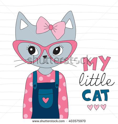 Cute Cat Stock Vector 564709513.