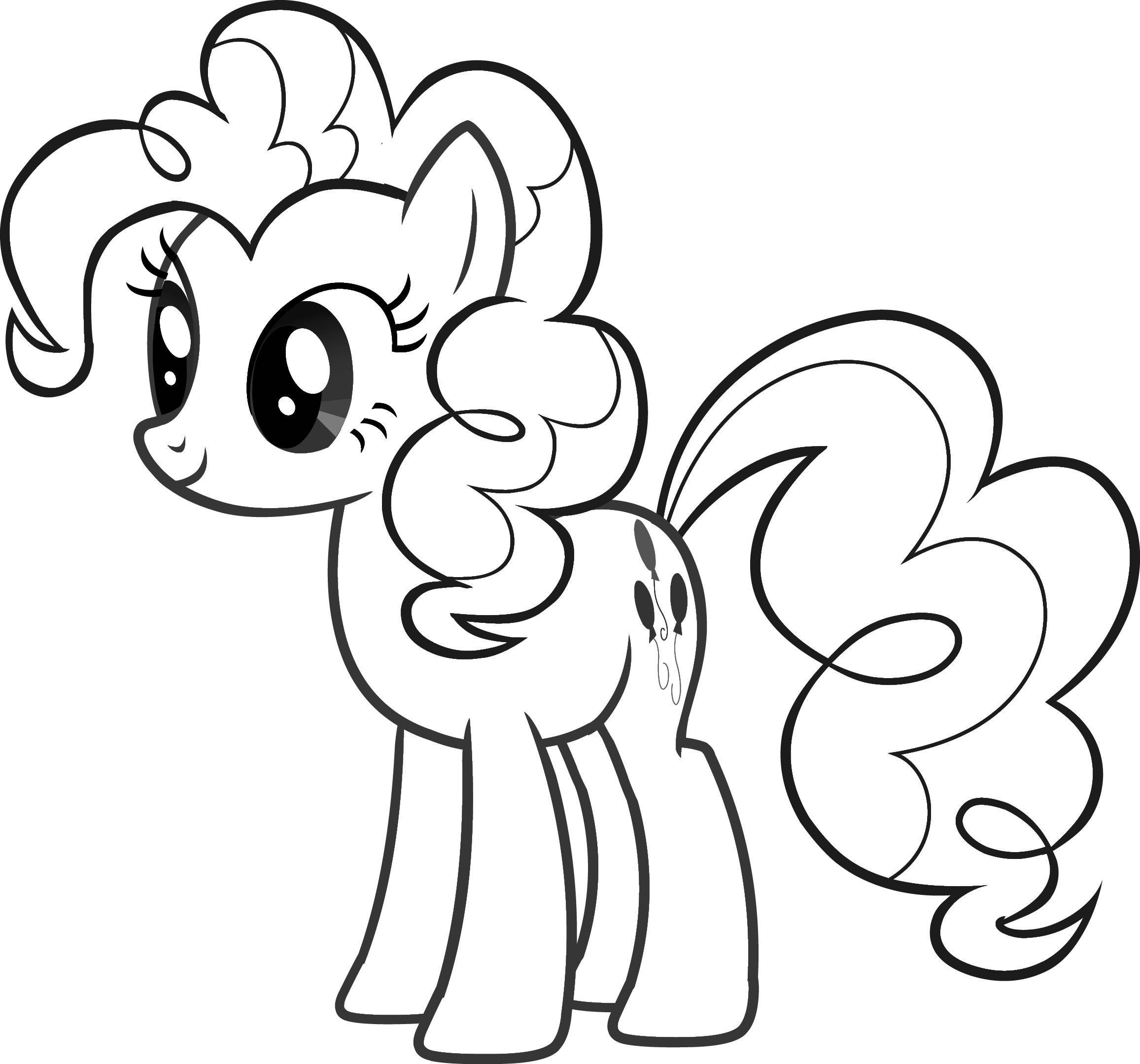 My little pony clipart black and white 3 » Clipart Portal.