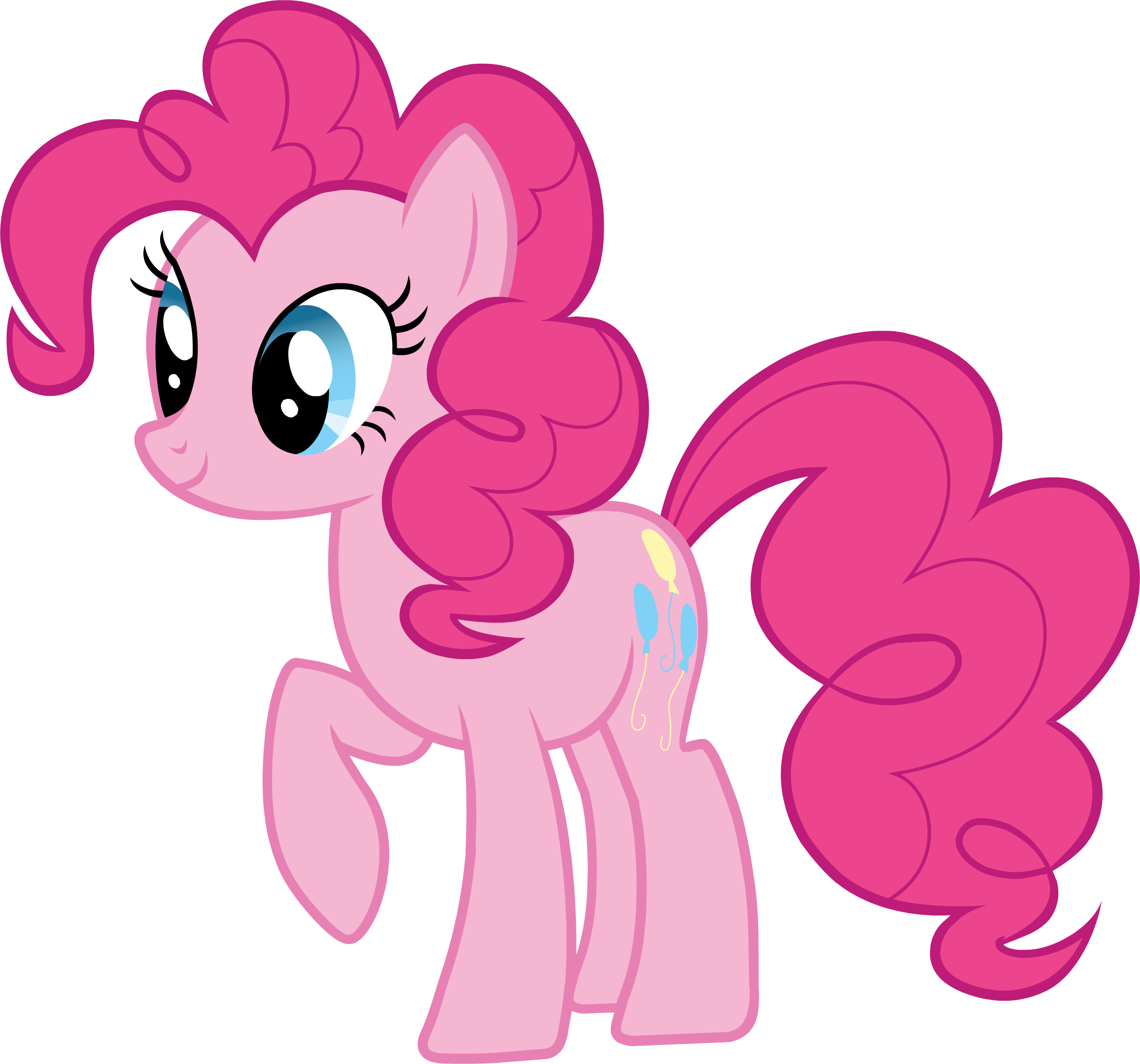 Pink Cute My Little Pony Clipart #47122.