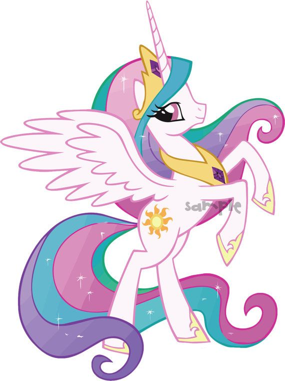 My Little Pony Princess Celestia Clipart.