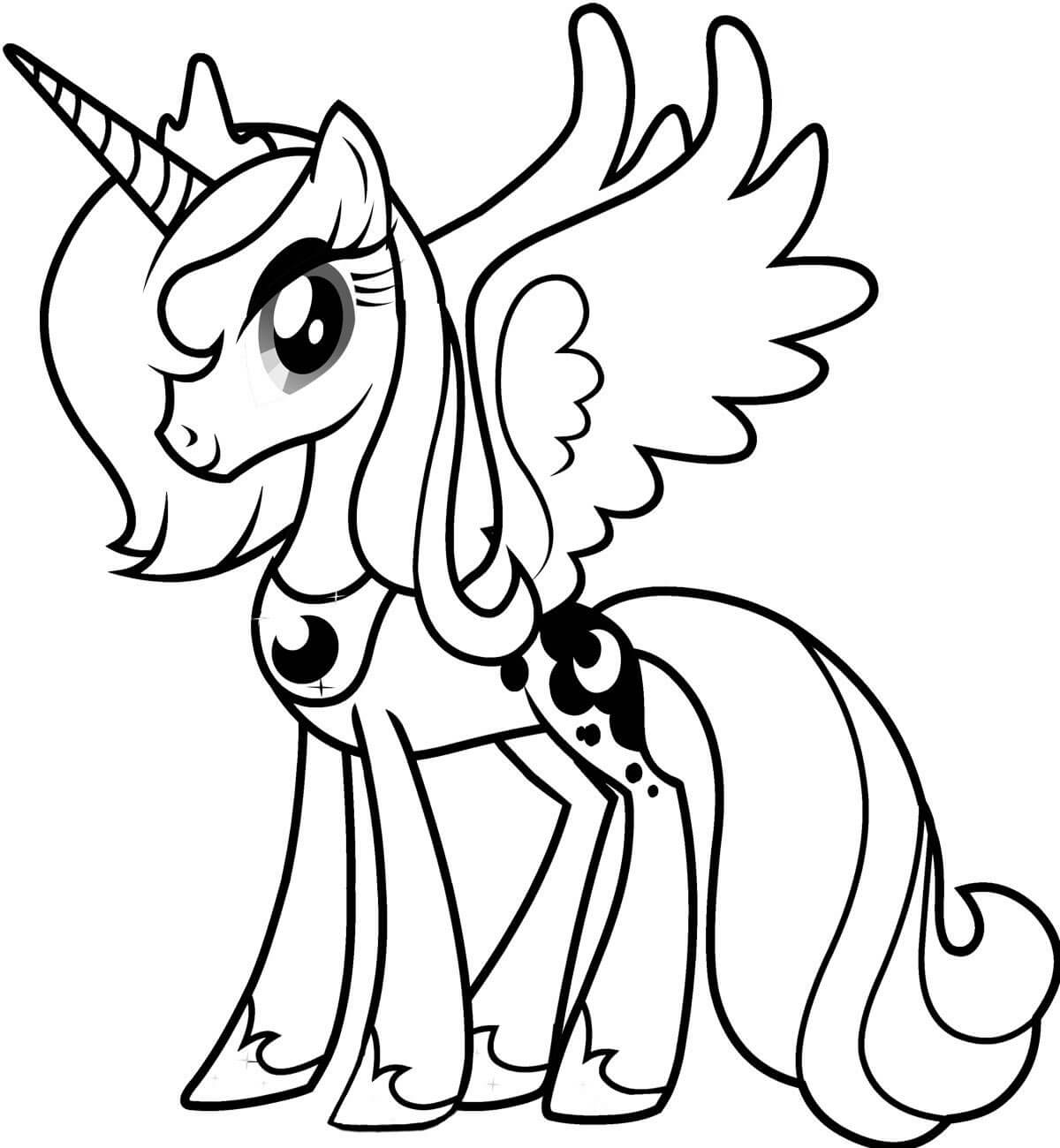 My little pony coloring pages filly.