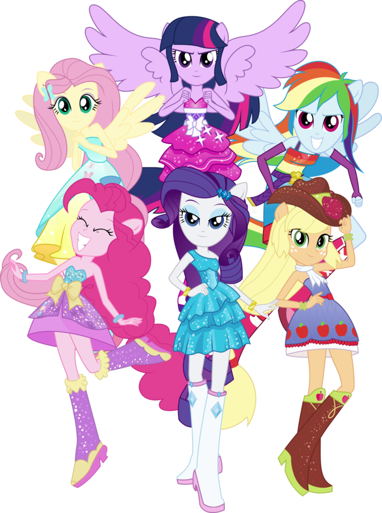 my little pony equestrian girls.the six sages.