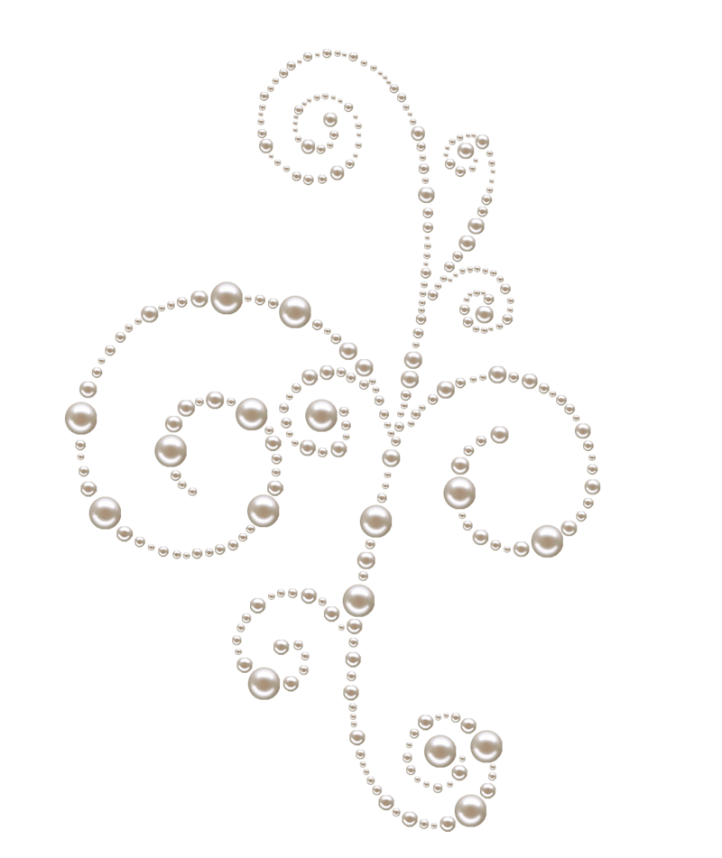 Pearl Heart with Bow Transparent PNG Clip Art Image.
