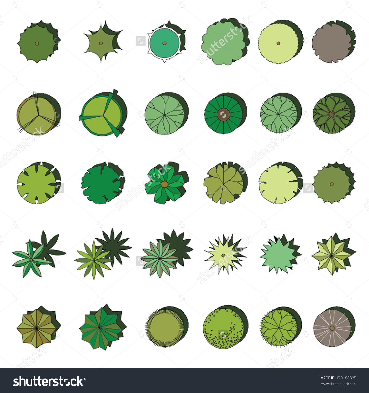 Landscaping Stock Vectors Vector Clip Art Shutterstock Trees And.