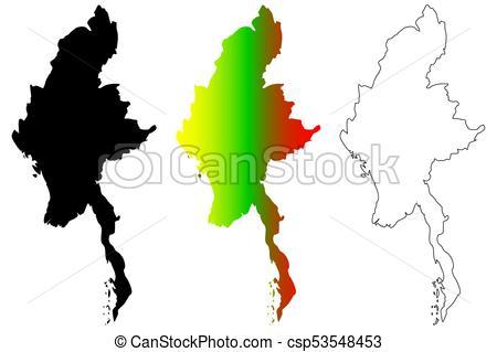 Myanmar map vector.