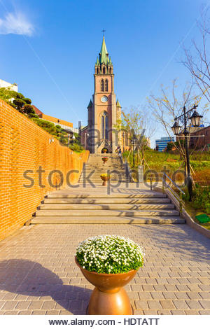 Church In Seoul South Korea Stock Photo, Royalty Free Image.