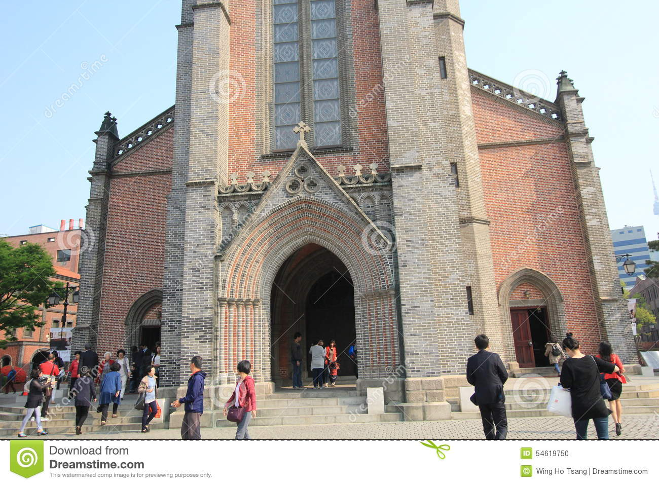 South Korea Myeongdong Cathedral In Seoul Editorial Stock Photo.