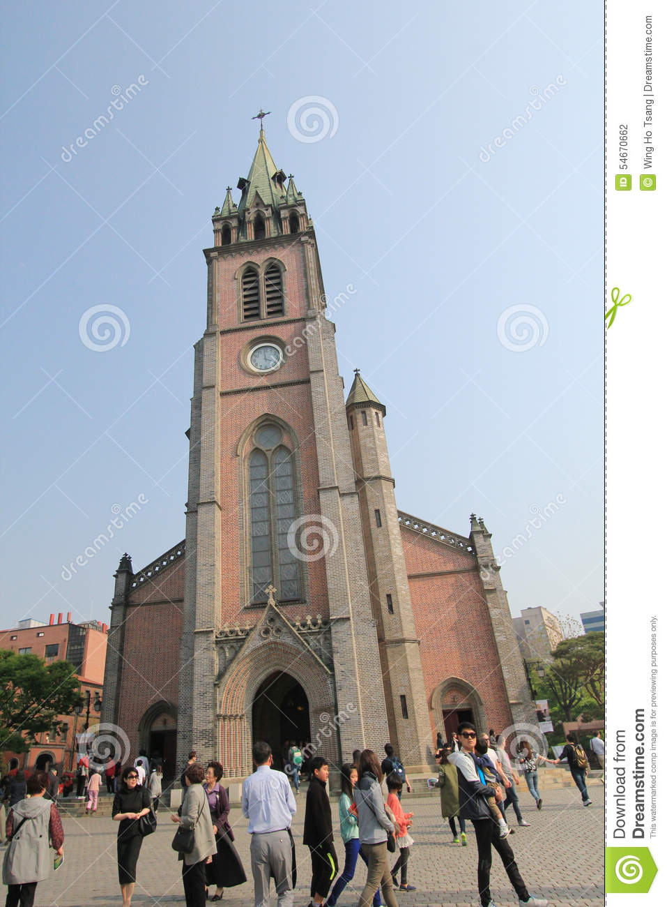 South Korea Myeongdong Cathedral In Seoul Editorial Photography.