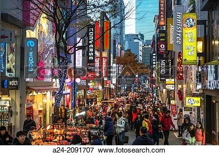 Picture of Korea , Seoul City, Myeongdong District , shopping.