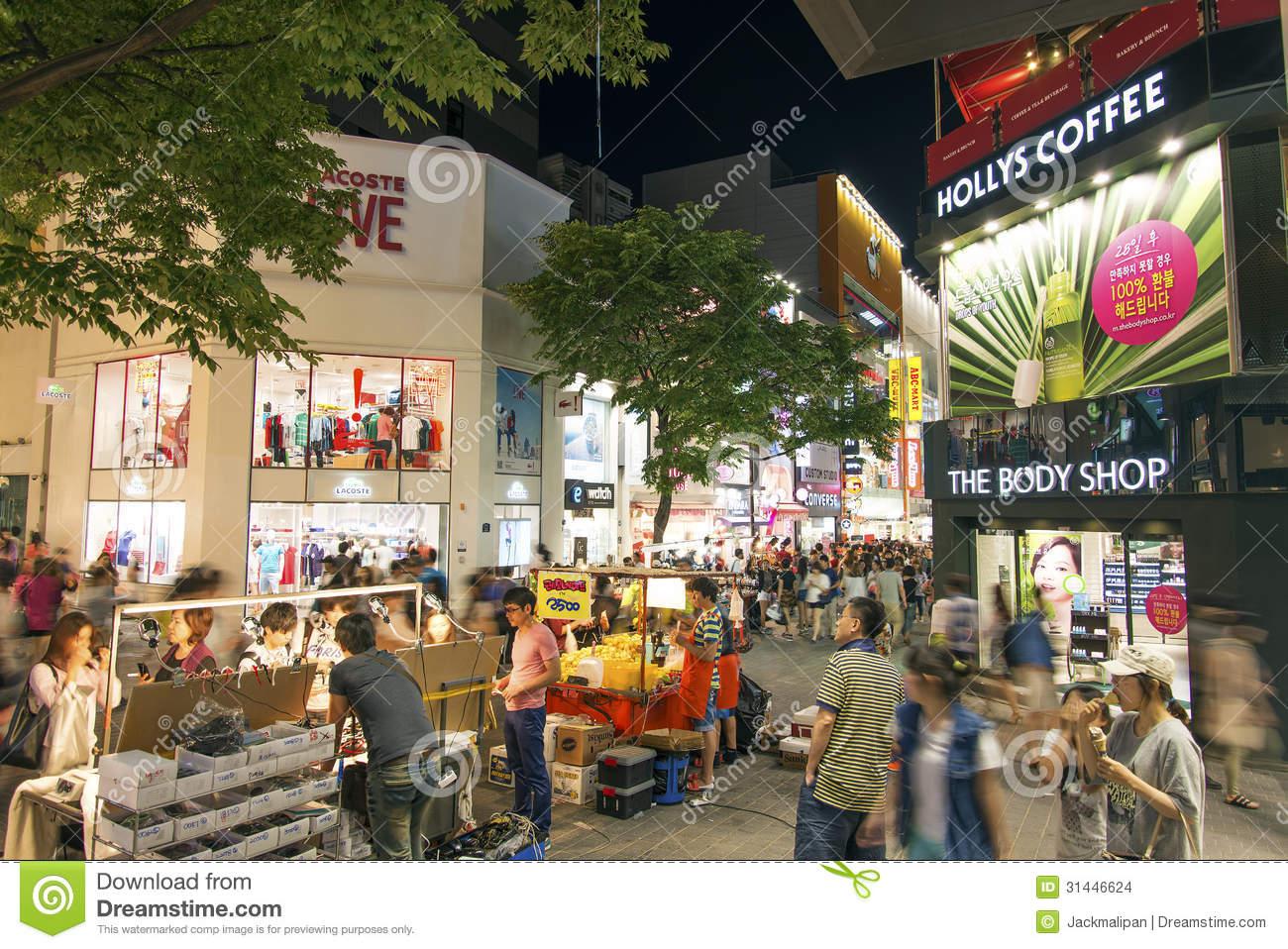 Seoul Myeongdong Editorial Stock Photo.