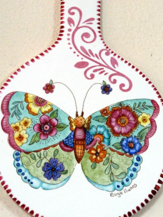 Ani Alonso's butterfly designs for china.