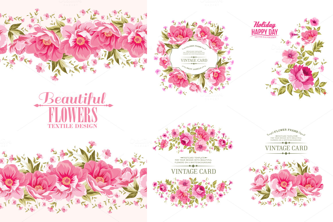 Amasing Floral Frames Set.