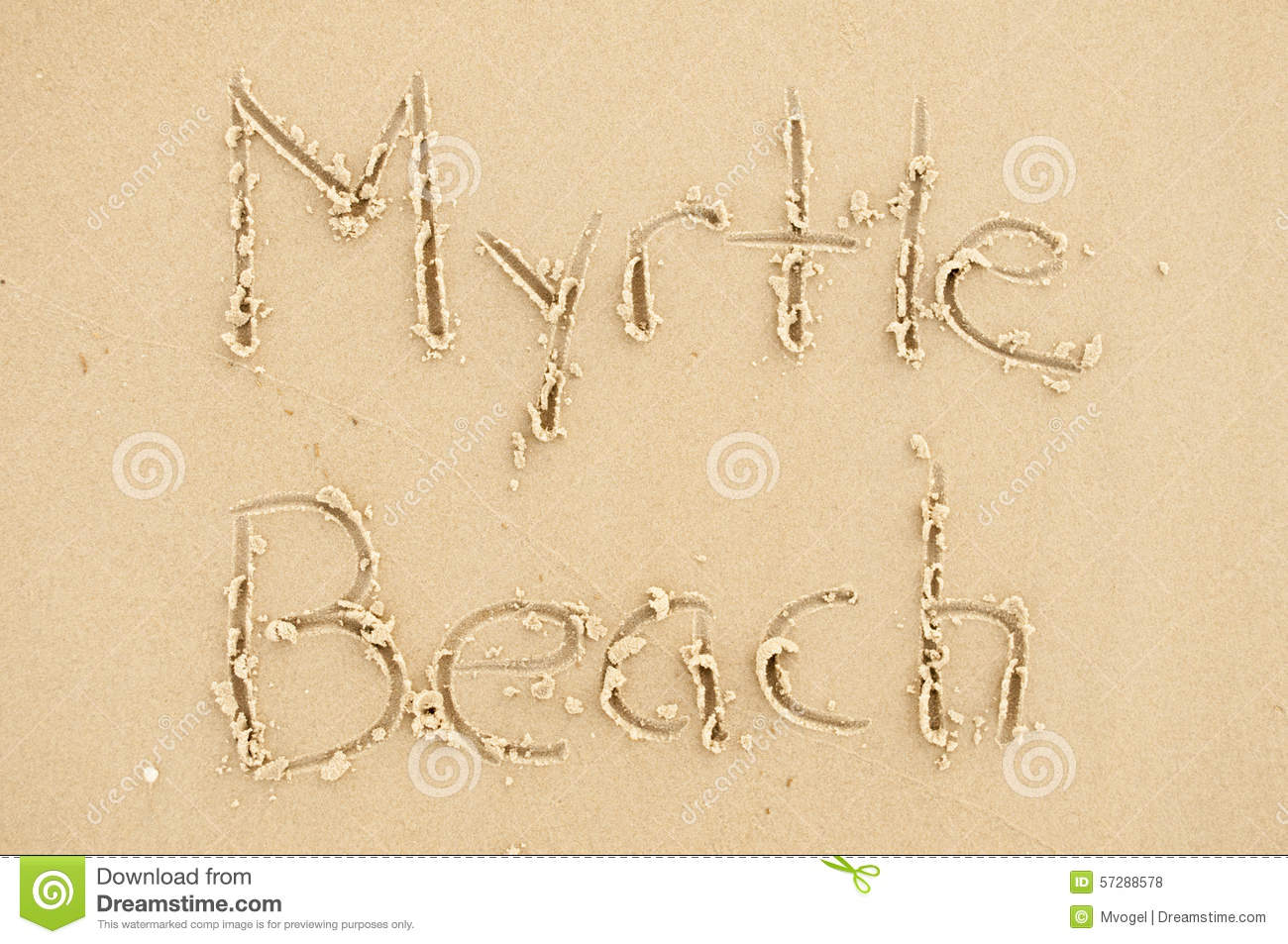 Myrtle Beach Stock Photo.