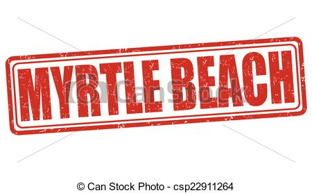 Clip Art Vector of Myrtle Beach stamp.