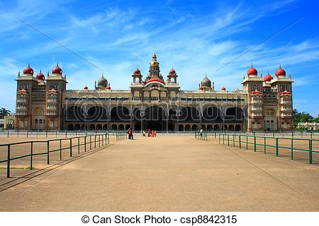 Stock Images of Beautiful Mysore Palace.