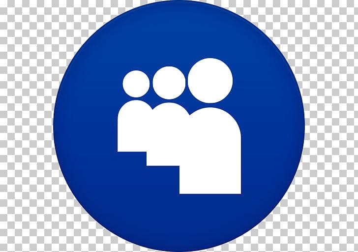 Blue area symbol smile circle, Myspace, three people.