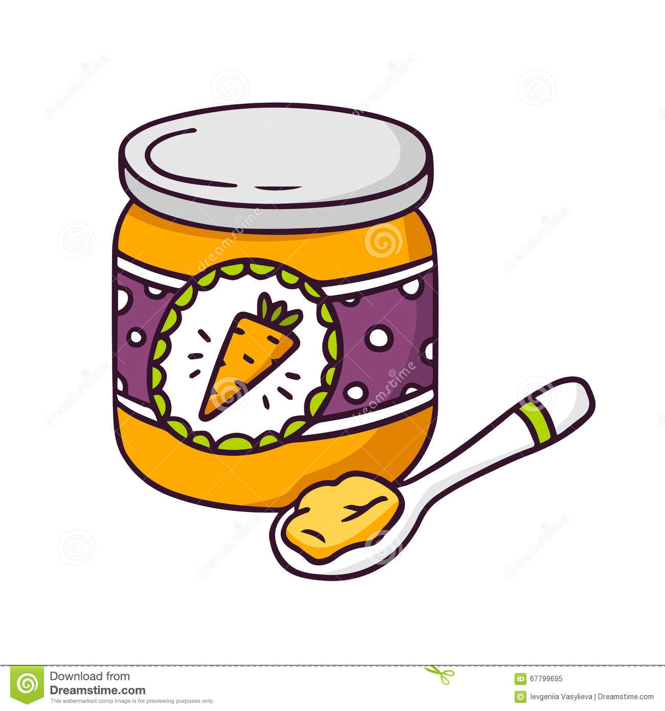 Baby Food Jar Clipart.