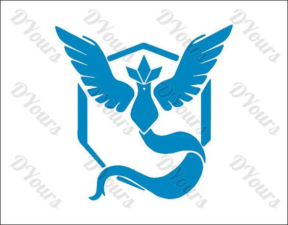 Pokemon Go Team Mystic Vector Clipart Svg Cdr Ai Pdf by DYours.