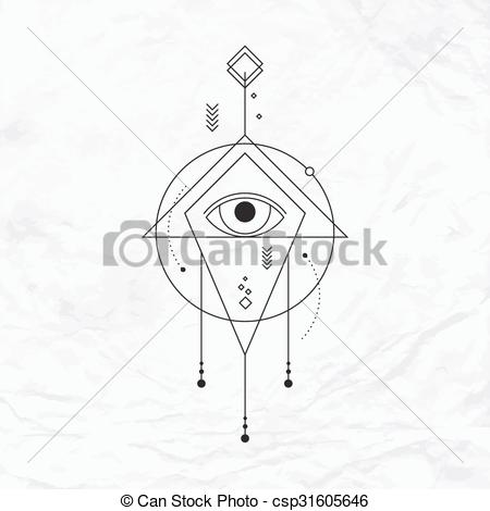 EPS Vector of Geometric abstract mystic symbol.