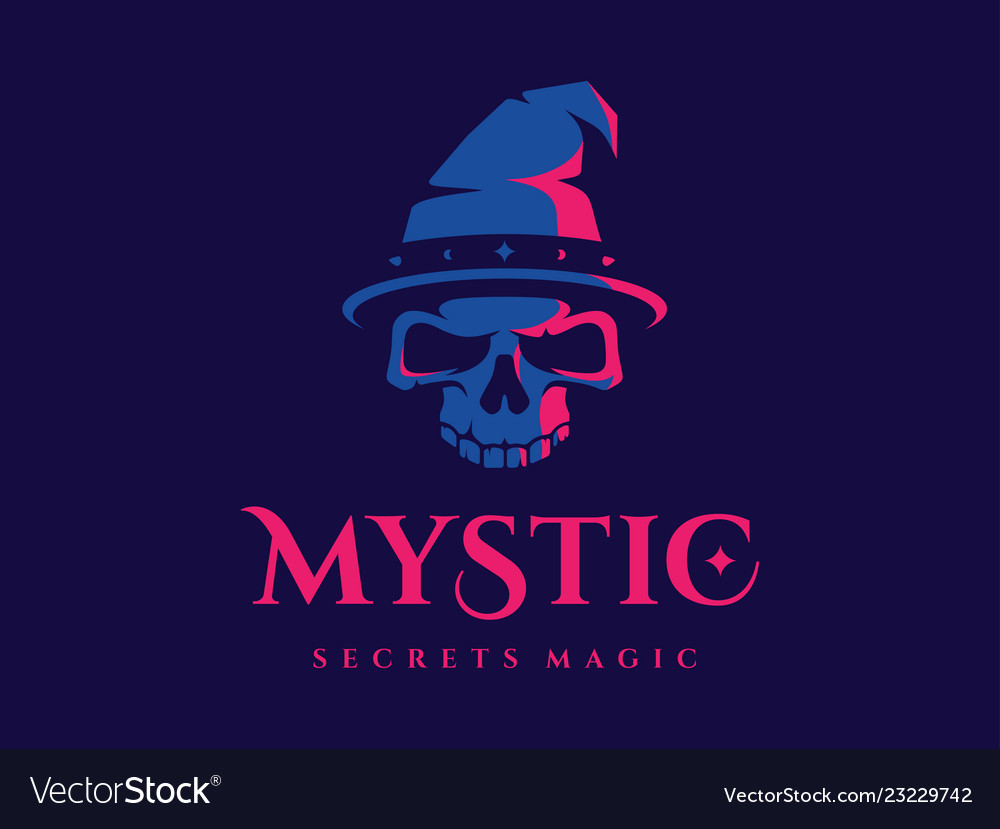 Modern professional logo emblem mystic in blue and.
