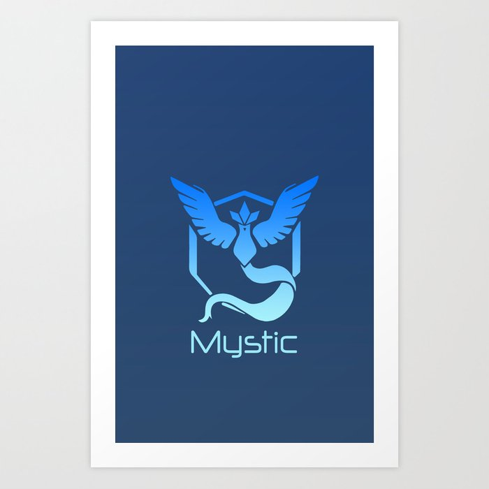 Team Mystic Logo PokemonGo Art Print by focusthecomic.