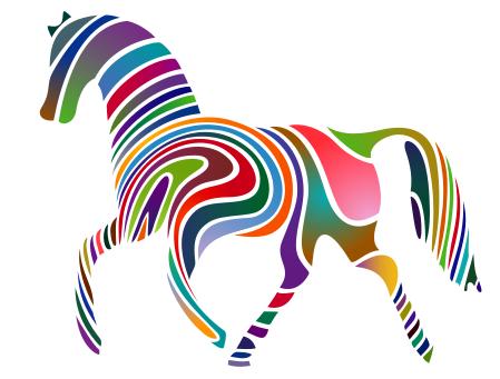 Free Mystical Horse Clipart, 1 page of Public Domain Clip Art.