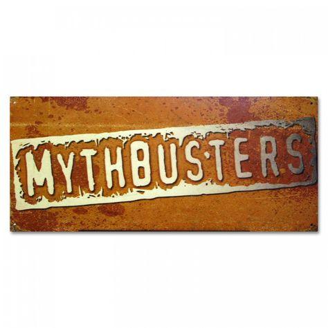 MythBusters Logo Metal Sign.