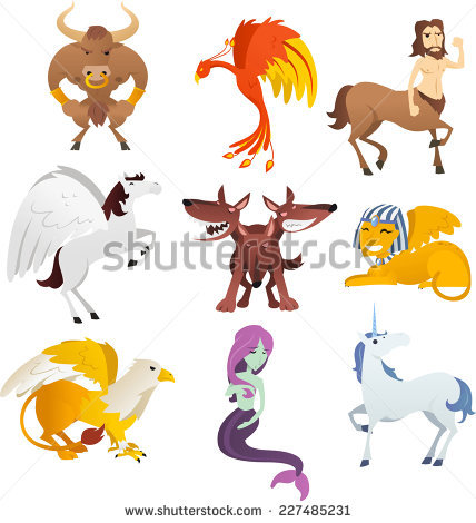 Mythical Creatures Stock Images, Royalty.