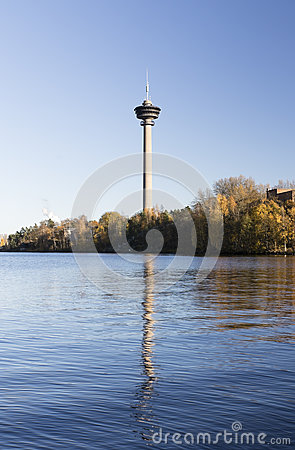 TV Tower In Tampere Stock Photo.