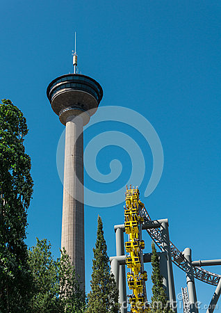 Observation Tower Nasinneula From Tampere, Finland. Stock Photo.