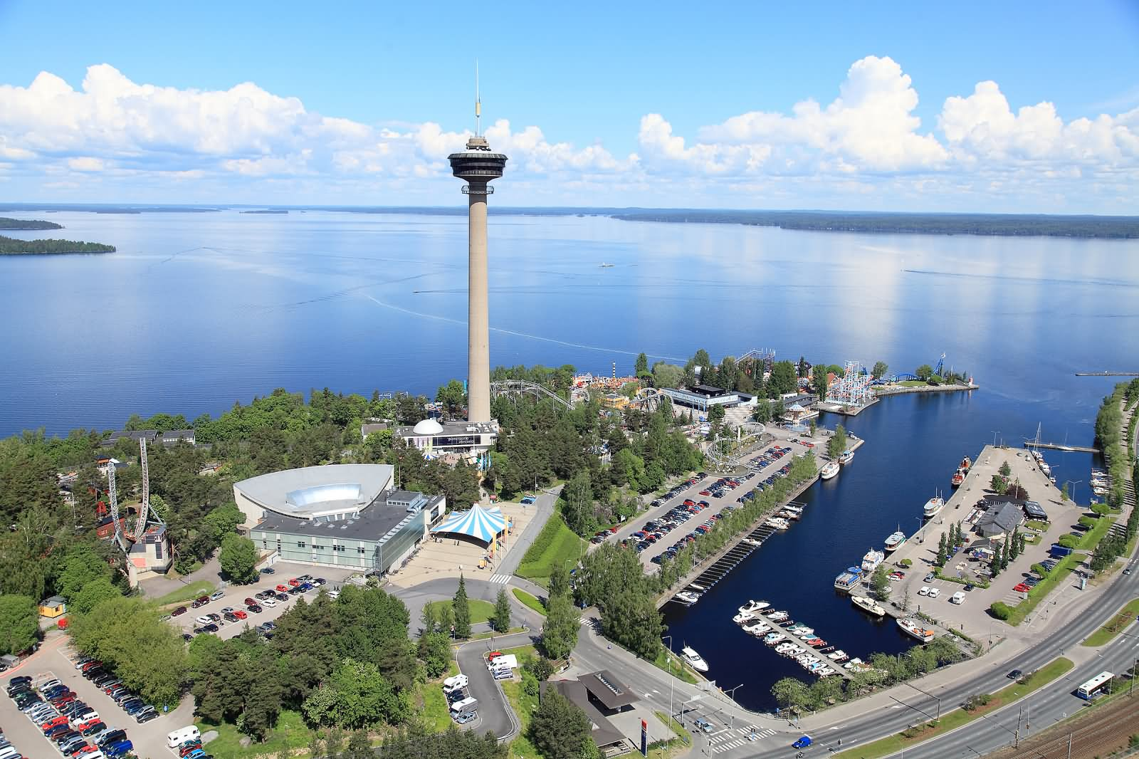 Adorable View Of The Nasinneula Tower In Finland.