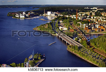 Stock Photo of Fiew from above: trestle bridge k5836713.