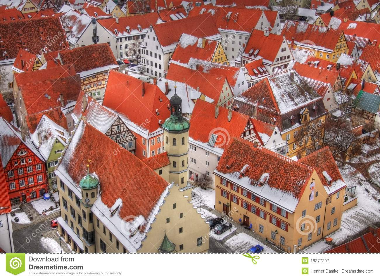 Nördlingen (Bavaria, Germany) Royalty Free Stock Photography.