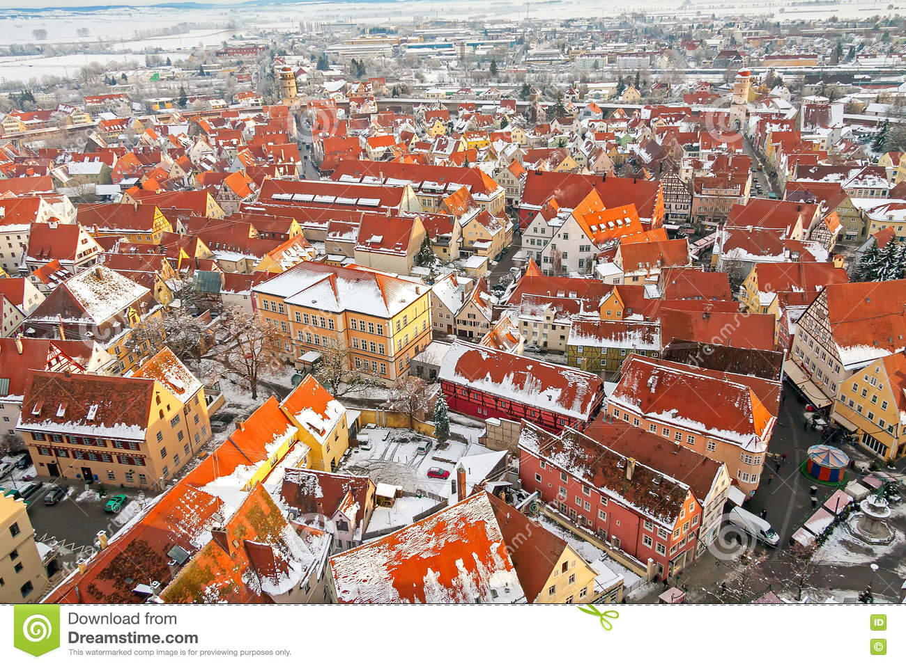 Nordlingen, Bavaria, Germany. View From The Top Royalty Free Stock.
