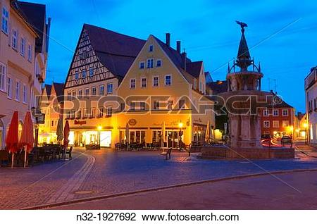 Stock Photo of Nordlingen, Old Medieval Town, Romantic Road.