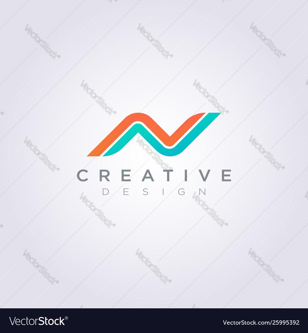 Letter n compass design clipart symbol logo.
