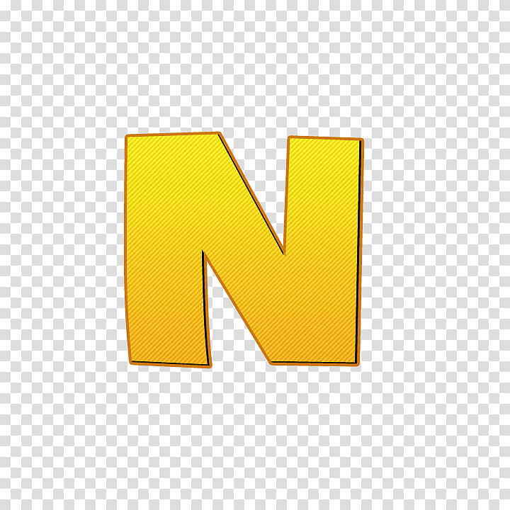 Fonts Letras mundo gaturro , yellow N logo transparent.