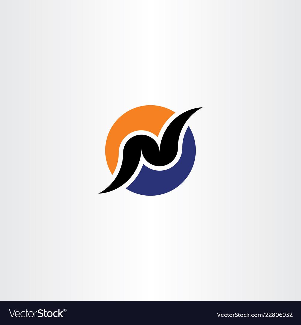 Logo design letter n.