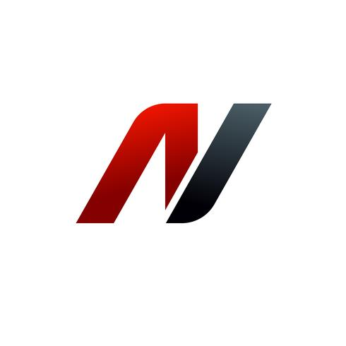 letter n logo. speed logo design concept template.