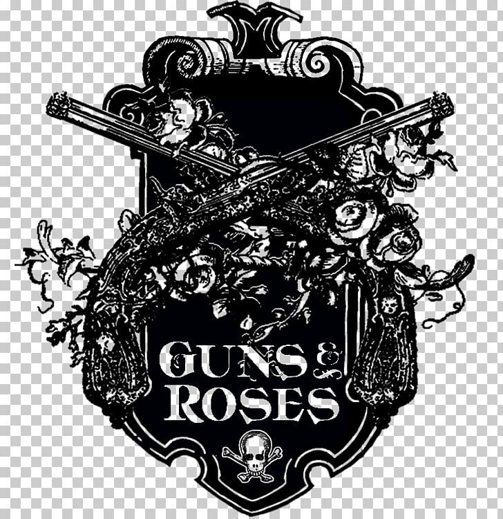 Logo Guns N\' Roses Graphic design, music band PNG clipart.