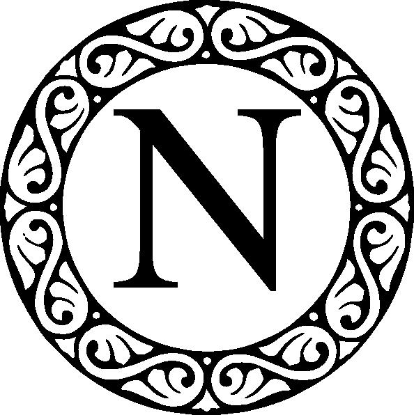 N Monogram Clipart.