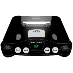 Nintendo 64 black Icon.