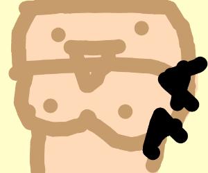 Boobman saying AAAAAAA (drawing by Naadje).