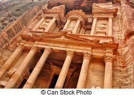 Stock Images of Petra Nabataeans capital city (Al Khazneh), Jordan.
