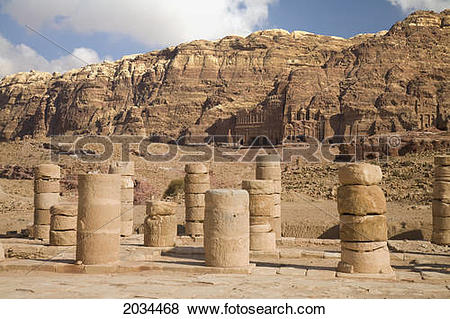 Pictures of Ruins Of The Nabatean City; Petra Jordan 2034468.