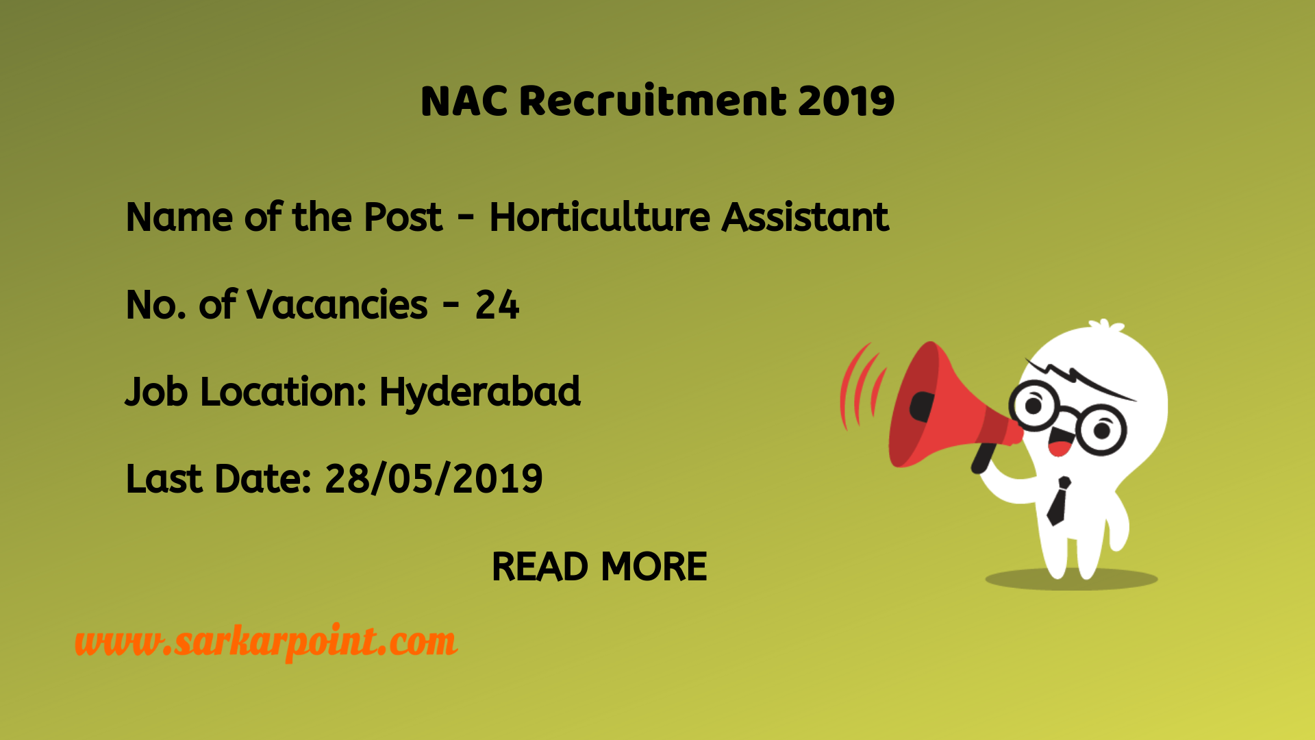 NAC Recruitment 2019.