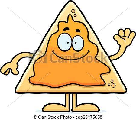 Cartoon Nachos Waving.