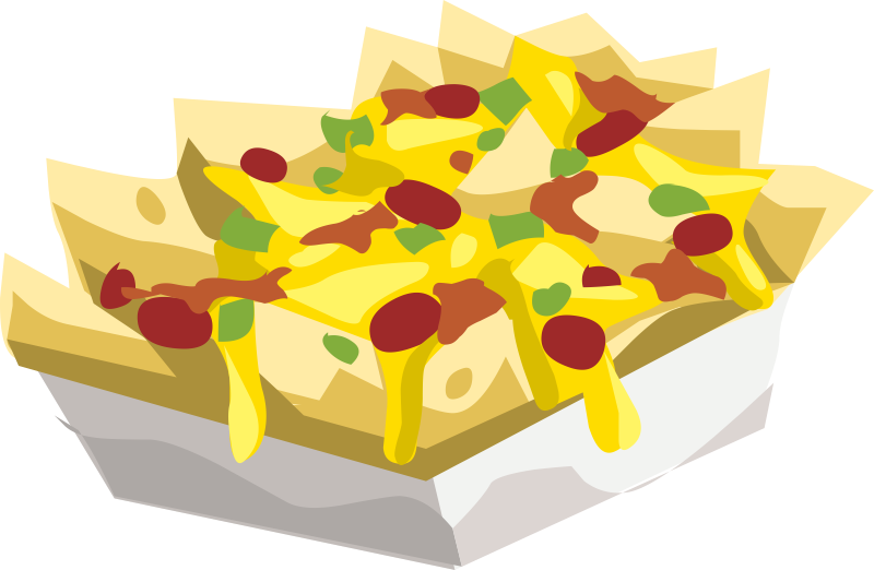 Free clipart nachos and cheese.