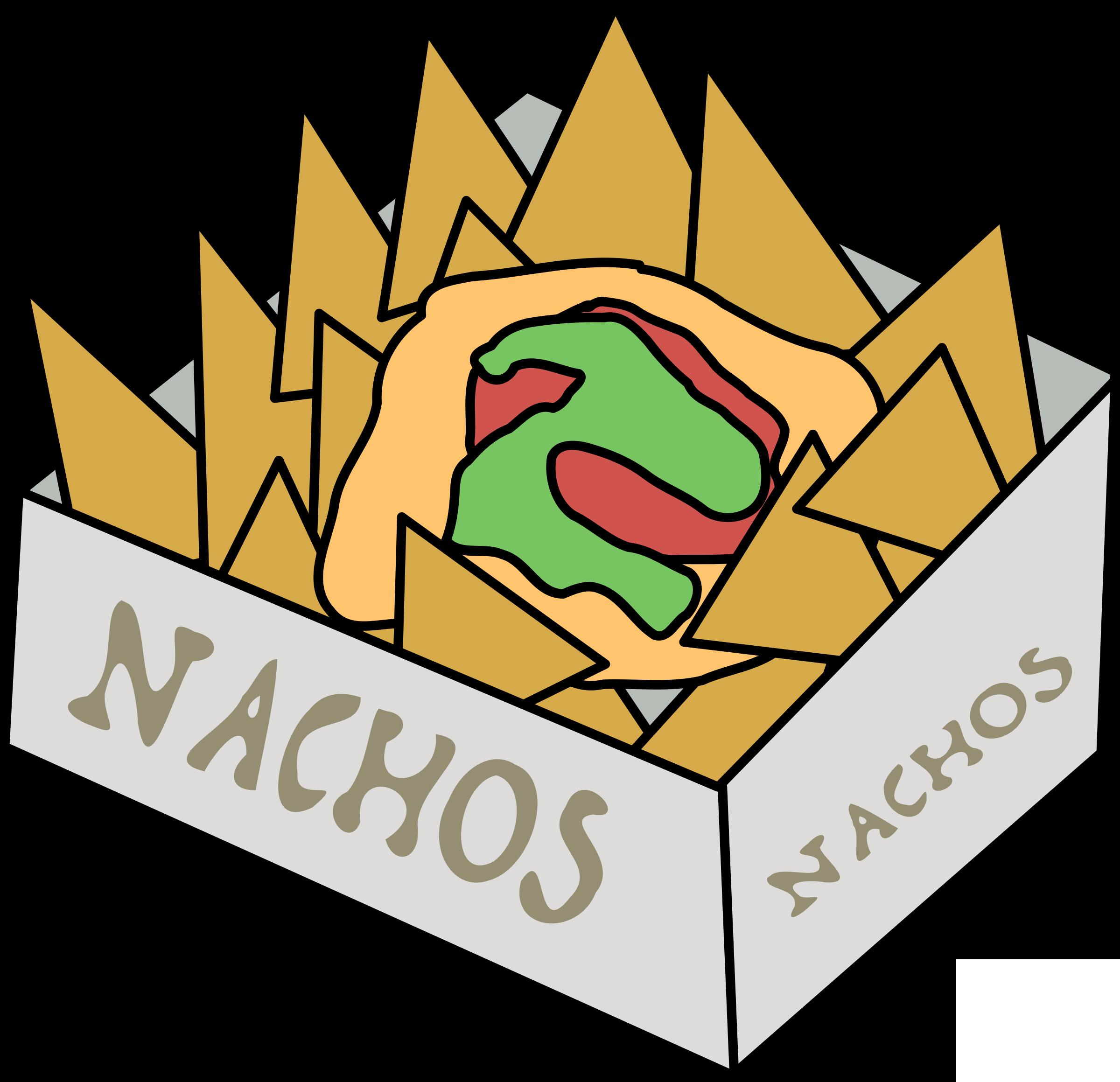 Box of Nachos Vector Clipart image.
